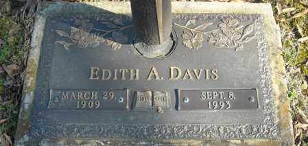 DAVIS, EDITH A. - Faulkner County, Arkansas | EDITH A. DAVIS - Arkansas Gravestone Photos