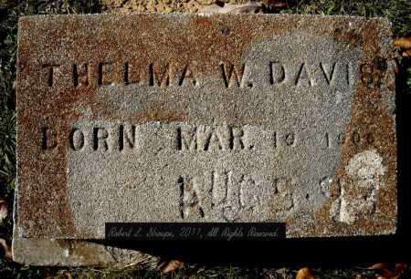 DAVIS, THELMA W. - Faulkner County, Arkansas | THELMA W. DAVIS - Arkansas Gravestone Photos