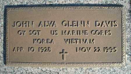 DAVIS (VETERAN 2 WARS), JOHN ALVA GLENN - Faulkner County, Arkansas | JOHN ALVA GLENN DAVIS (VETERAN 2 WARS) - Arkansas Gravestone Photos