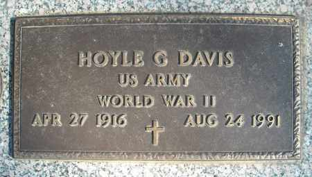 DAVIS (VETERAN WWII), HOYLE G - Faulkner County, Arkansas | HOYLE G DAVIS (VETERAN WWII) - Arkansas Gravestone Photos