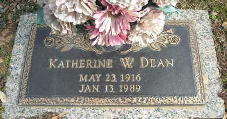 DEAN, KATHERINE W. - Faulkner County, Arkansas | KATHERINE W. DEAN - Arkansas Gravestone Photos