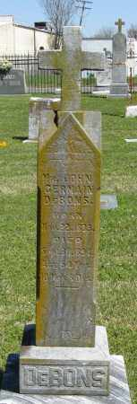 DEBONS, JOHN GERMAIN - Faulkner County, Arkansas | JOHN GERMAIN DEBONS - Arkansas Gravestone Photos