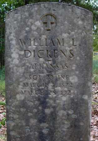 DICKENS  (VETERAN), WILLIAM L - Faulkner County, Arkansas | WILLIAM L DICKENS  (VETERAN) - Arkansas Gravestone Photos