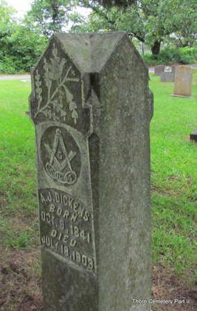 DICKENS, ANDREW JACKSON - Faulkner County, Arkansas | ANDREW JACKSON DICKENS - Arkansas Gravestone Photos