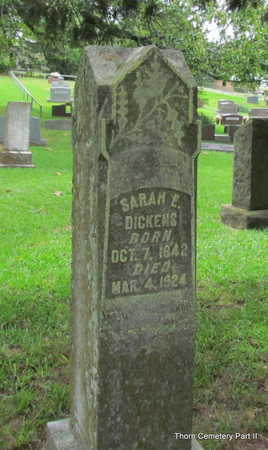 DICKENS, SARAH E. - Faulkner County, Arkansas | SARAH E. DICKENS - Arkansas Gravestone Photos