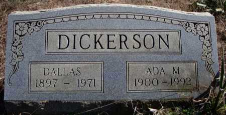 DICKERSON, DALLAS - Faulkner County, Arkansas | DALLAS DICKERSON - Arkansas Gravestone Photos