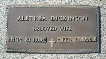 DICKINSON, ALETHEA - Faulkner County, Arkansas | ALETHEA DICKINSON - Arkansas Gravestone Photos