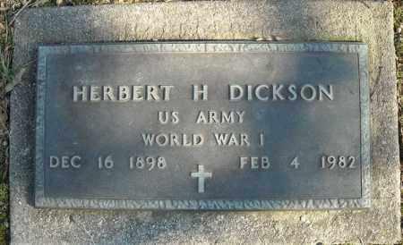DICKSON (VETERAN WWI), HERBERT H - Faulkner County, Arkansas | HERBERT H DICKSON (VETERAN WWI) - Arkansas Gravestone Photos