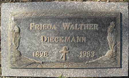 WALTHER DIECKMANN, FRIEDA - Faulkner County, Arkansas | FRIEDA WALTHER DIECKMANN - Arkansas Gravestone Photos