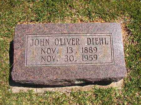 DIEHL, JOHN OLIVER - Faulkner County, Arkansas | JOHN OLIVER DIEHL - Arkansas Gravestone Photos