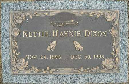 HAYNIE DIXON, NETTIE - Faulkner County, Arkansas | NETTIE HAYNIE DIXON - Arkansas Gravestone Photos