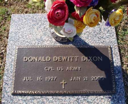 DIXON (VETERAN), DONALD DEWITT - Faulkner County, Arkansas | DONALD DEWITT DIXON (VETERAN) - Arkansas Gravestone Photos