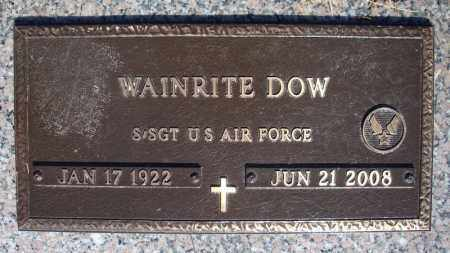 DOW (VETERAN), WAINRITE - Faulkner County, Arkansas | WAINRITE DOW (VETERAN) - Arkansas Gravestone Photos