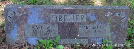 DREHER, KARL W. - Faulkner County, Arkansas | KARL W. DREHER - Arkansas Gravestone Photos