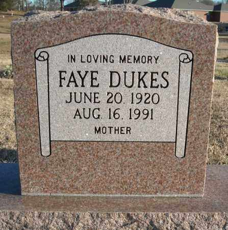 DUKES, FAYE - Faulkner County, Arkansas | FAYE DUKES - Arkansas Gravestone Photos