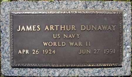 DUNAWAY (VETERAN WWII), JAMES ARTHUR - Faulkner County, Arkansas | JAMES ARTHUR DUNAWAY (VETERAN WWII) - Arkansas Gravestone Photos