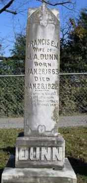DUNN, FRANCIS E. J. - Faulkner County, Arkansas | FRANCIS E. J. DUNN - Arkansas Gravestone Photos