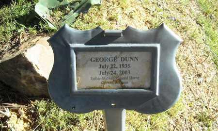 DUNN, GEORGE - Faulkner County, Arkansas | GEORGE DUNN - Arkansas Gravestone Photos