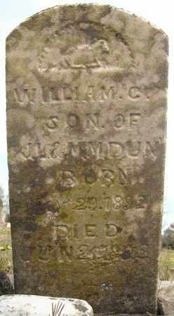 DUNN, WILLIAM COLUMBUS (2 STONES) - Faulkner County, Arkansas | WILLIAM COLUMBUS (2 STONES) DUNN - Arkansas Gravestone Photos