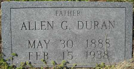 DURAN, ALLEN GROVER - Faulkner County, Arkansas | ALLEN GROVER DURAN - Arkansas Gravestone Photos