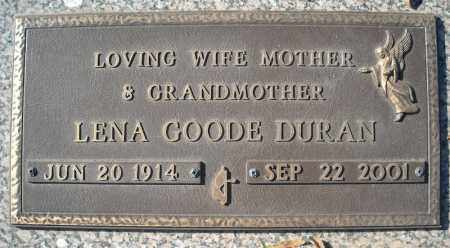 GOODE DURAN, LENA - Faulkner County, Arkansas | LENA GOODE DURAN - Arkansas Gravestone Photos