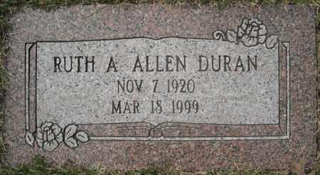 ALLEN DURAN, RUTH A. - Faulkner County, Arkansas   RUTH A. ALLEN DURAN - Arkansas Gravestone Photos