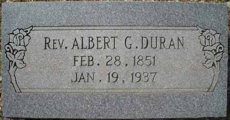 DURAN, REV., ALBERT G. - Faulkner County, Arkansas | ALBERT G. DURAN, REV. - Arkansas Gravestone Photos