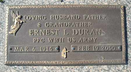 DURAN (VETERAN WWII), ERNEST L - Faulkner County, Arkansas | ERNEST L DURAN (VETERAN WWII) - Arkansas Gravestone Photos