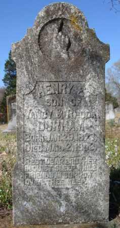 DURHAM, HENRY E. - Faulkner County, Arkansas | HENRY E. DURHAM - Arkansas Gravestone Photos