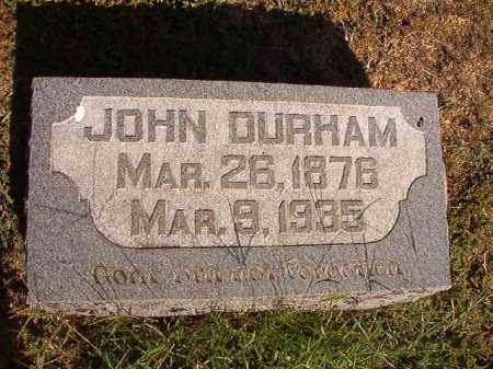 DURHAM, JOHN - Faulkner County, Arkansas | JOHN DURHAM - Arkansas Gravestone Photos