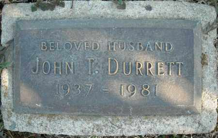 DURRETT, JOHN T. - Faulkner County, Arkansas | JOHN T. DURRETT - Arkansas Gravestone Photos