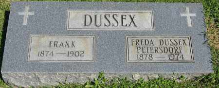 DUSSEX, FRANK - Faulkner County, Arkansas | FRANK DUSSEX - Arkansas Gravestone Photos