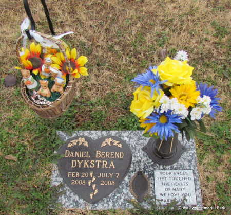 DYKSTRA (INFANT SECT 2), DANIEL BEREND - Faulkner County, Arkansas | DANIEL BEREND DYKSTRA (INFANT SECT 2) - Arkansas Gravestone Photos