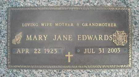EDWARDS, MARY JANE - Faulkner County, Arkansas | MARY JANE EDWARDS - Arkansas Gravestone Photos