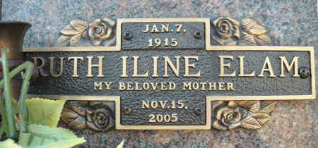 ELAM, RUTH ILINE - Faulkner County, Arkansas | RUTH ILINE ELAM - Arkansas Gravestone Photos