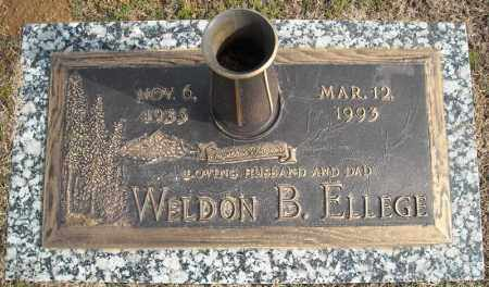 ELLEGE, WELDON B. - Faulkner County, Arkansas | WELDON B. ELLEGE - Arkansas Gravestone Photos