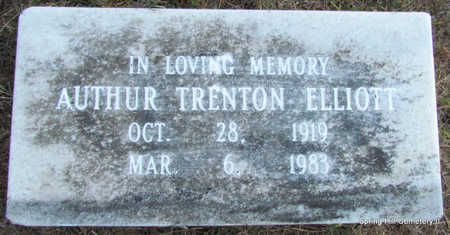 ELLIOTT, AUTHUR TRENTON - Faulkner County, Arkansas | AUTHUR TRENTON ELLIOTT - Arkansas Gravestone Photos