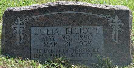 ELLIOTT, JULIA - Faulkner County, Arkansas | JULIA ELLIOTT - Arkansas Gravestone Photos