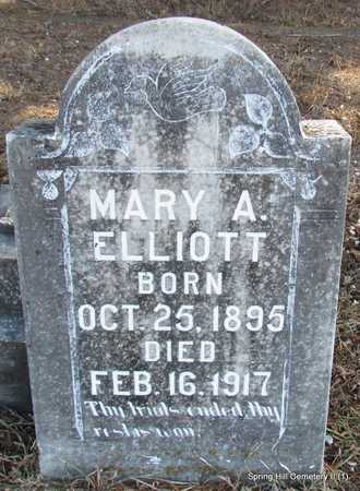 ELLIOTT, MARY A. - Faulkner County, Arkansas | MARY A. ELLIOTT - Arkansas Gravestone Photos