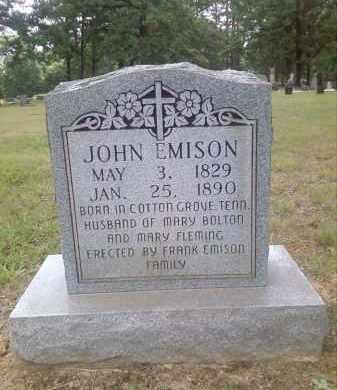 EMISON, JOHN - Faulkner County, Arkansas | JOHN EMISON - Arkansas Gravestone Photos