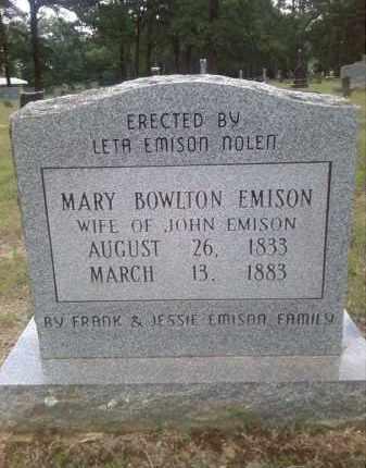 BOWLTON EMISON, MARY - Faulkner County, Arkansas | MARY BOWLTON EMISON - Arkansas Gravestone Photos