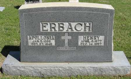 ERBACH, HENRY - Faulkner County, Arkansas | HENRY ERBACH - Arkansas Gravestone Photos