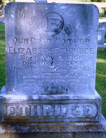 ETHRIDGE, ELIZABETH - Faulkner County, Arkansas | ELIZABETH ETHRIDGE - Arkansas Gravestone Photos