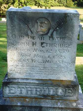 ETHRIDGE, JOHN H. - Faulkner County, Arkansas | JOHN H. ETHRIDGE - Arkansas Gravestone Photos