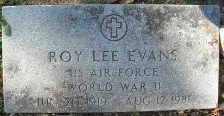 EVANS  (VETERAN WWII), ROY LEE - Faulkner County, Arkansas | ROY LEE EVANS  (VETERAN WWII) - Arkansas Gravestone Photos