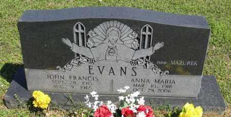 EVANS, JOHN FRANCIS - Faulkner County, Arkansas | JOHN FRANCIS EVANS - Arkansas Gravestone Photos