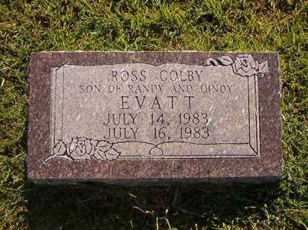 EVATT, ROSS COLBY - Faulkner County, Arkansas   ROSS COLBY EVATT - Arkansas Gravestone Photos