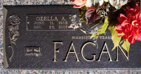 FAGAN, OZELLA A. (CLOSE UP) - Faulkner County, Arkansas | OZELLA A. (CLOSE UP) FAGAN - Arkansas Gravestone Photos