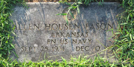 FASON, JR (VETERAN), ALLEN HOUSELL - Faulkner County, Arkansas | ALLEN HOUSELL FASON, JR (VETERAN) - Arkansas Gravestone Photos