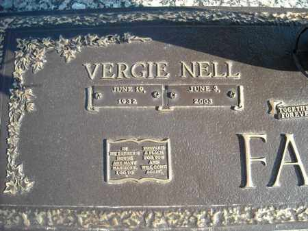 FASON, VERGIE NELL (CLOSEUP) - Faulkner County, Arkansas | VERGIE NELL (CLOSEUP) FASON - Arkansas Gravestone Photos